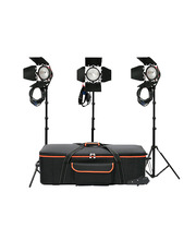 Studio Light Kit 3 x Open Face Red Head 800W