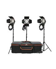 Studio Light Kit 3 x Open Face Red Head 800W