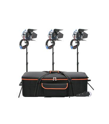 Tungsten Studio Lights Kit 3 x Junior Fresnel 650W