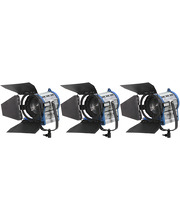 Video Light Pack 3 x Tungsten Fresnel 1000W