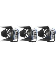 Tungsten Light Pack 3 x Junior Fresnel 2000W