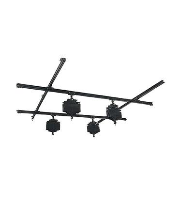 Studio Ceiling Rail System 3x3m - 4 pantograph
