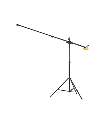 Stand with Boom Arm, Eccentric Cam and Counterweight