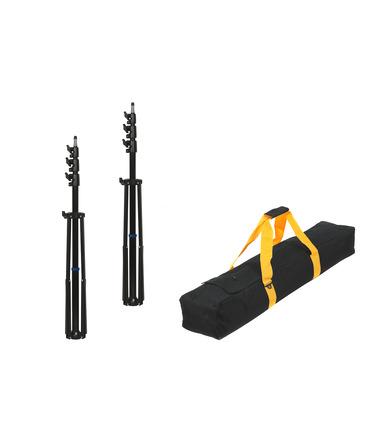 Pack: 2 x Light Stand 280 cm + Transport Bag