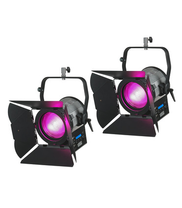 Pack 2 x Studio LED Fresnel 200W RGBW